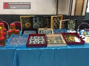 سینی دکوری چوبی جشنواره غذا و بازارچه خیریه بوی عیدی