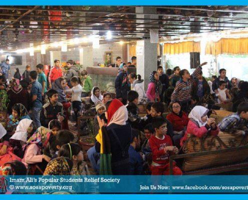 برگزاری جشن یلدا برای کودکان کار و محروم از تحصیل محله فرحزاد تهران