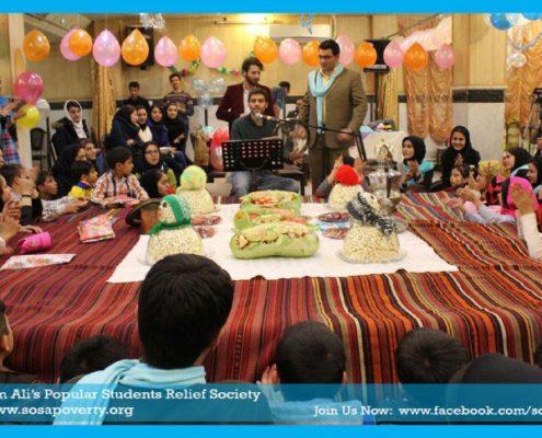 برگزاری جشن یلدا برای کودکان کار و محروم از تحصیل شهرستان زنجان