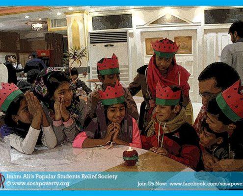 برگزاری جشن یلدا برای کودکان کار و محروم از تحصیل شهرستان بومهن