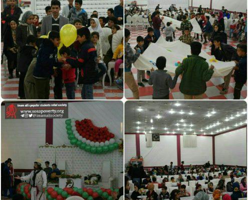 جشن یلدا با حضور کودکان محله های جعفرآباد و زور آباد کرمانشاه