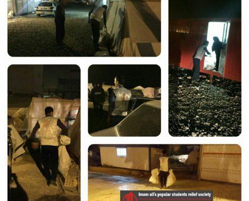 توزیع حدود ۴٠ کیسه از اقلام ویژه شب یلدا در سرپل ذهاب، محله فولادی و مسکن مهر