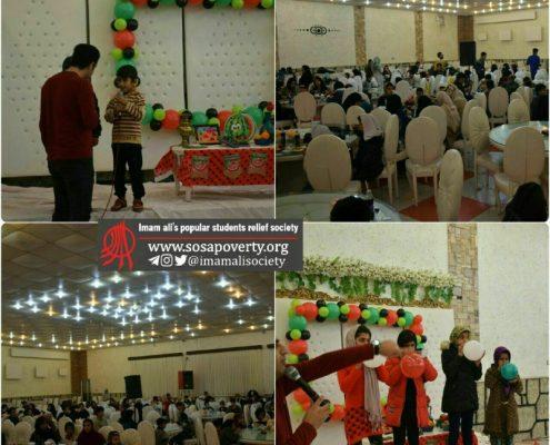 جشن یلدا در کنار کودکان حاشیه نشین کرمانشاه