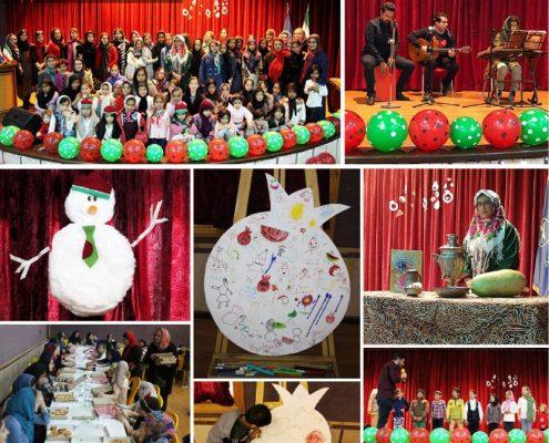 برگزاری جشن یلدا برای کودکان خانه ایرانی فرحزاد