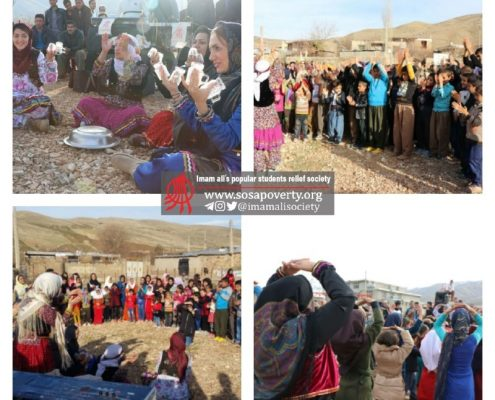 برگزاری مراسم جشن شب یلدا برای ۵۰۰ کودک اهل جوانرود توسط جمعیت امام علی