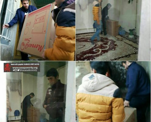 خرید و توزیع ده دستگاه بخاری بین خانواده های تحت حمایت جمعیت در کرمانشاه و هرسین