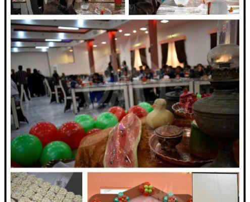 جشن یلدا و اهدا تعداد ۴۵ بسته شامل میوه و شال و کلاه، توسط داوطلبان در شهر یزد به کودکان کار