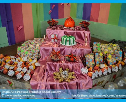 برگزاری جشن یلدا برای کودکان کار و محروم از تحصیل قم