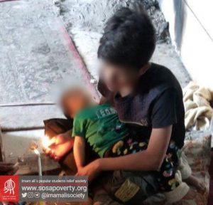 از موارد اعتیاد کودک در یکی از محلات حاشیه