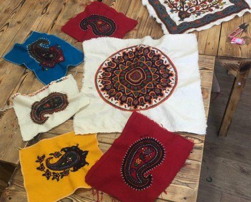هنر پته دوزی در خانه ایرانی پاکدشت