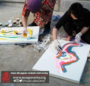 تابلوهای نقاشی مادران لب خط شوش