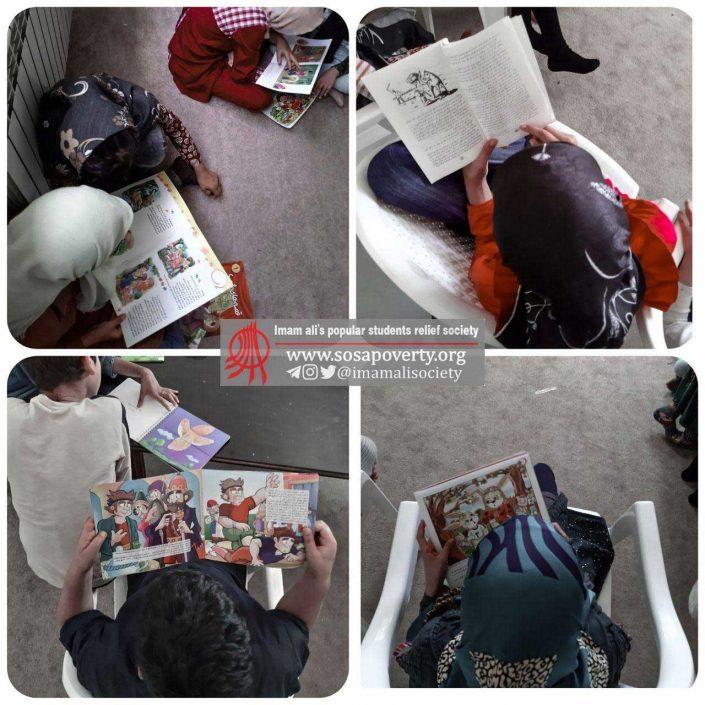 کلاس کتابخوانی خانه ایرانی احمدآباد مستوفی