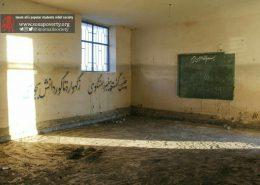 تخریب مدارس، از بین رفتن کتابها و وسایل تحصیل کودکان