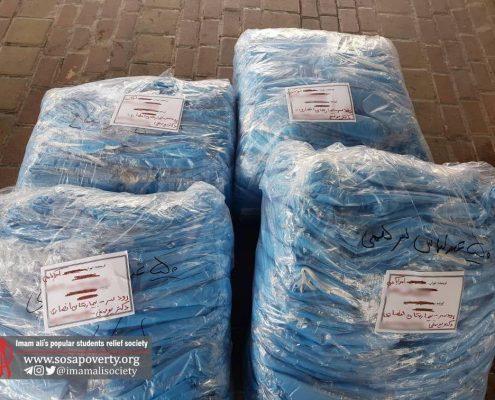 تحویل ۲۰۰ عدد گان به بیمارستان شهید انصاری رودسر در استان گیلان