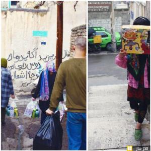 پخش پک در محله حاشیه فرحزاد جهت پیشگیری کرونا