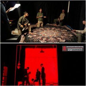 نوجوانان خانه های ایرانی درحال تمرین و اجرای تئاتر