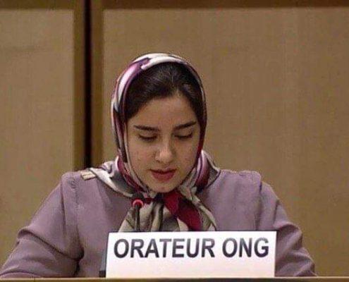 عکس از حضور نمایندهی جمعیت امام علی در نشست حقوق بشر سازمان ملل