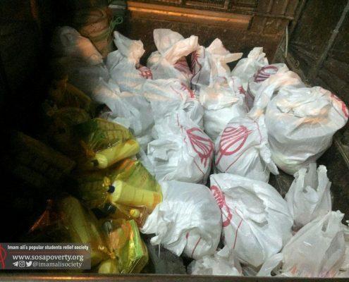 توزیع کیسه های کوچه گردان عاشق در مناطق سردشت