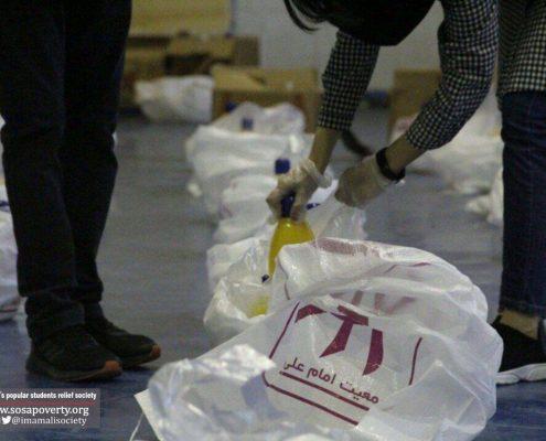 توزیع کیسه های طرح کوچه گردان عاشق در شیراز