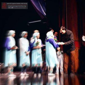 مراسم تقدیر از هنرمندان گروه آوای صلح جمعیت امام علی (ع)