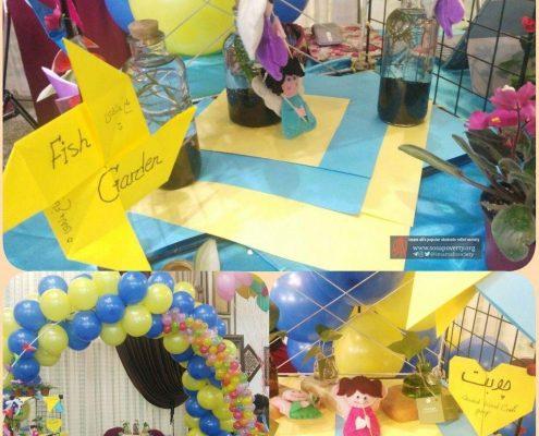 غرفه تیم بهداشت و درمان در بازارچه بوی عیدی