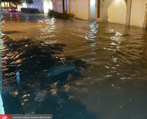 آب گرفتگی مناطق و منازل در خوزستان
