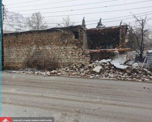 گزارش اول اعضای جمعیت امام علی از زلزله سی سخت واقع در استان کهگیلویه و بویراحمد