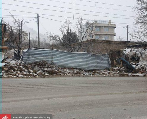گزارش اول اعضای جمعیت امام علی از زلزله در استان کهگیلویه و بویراحمد